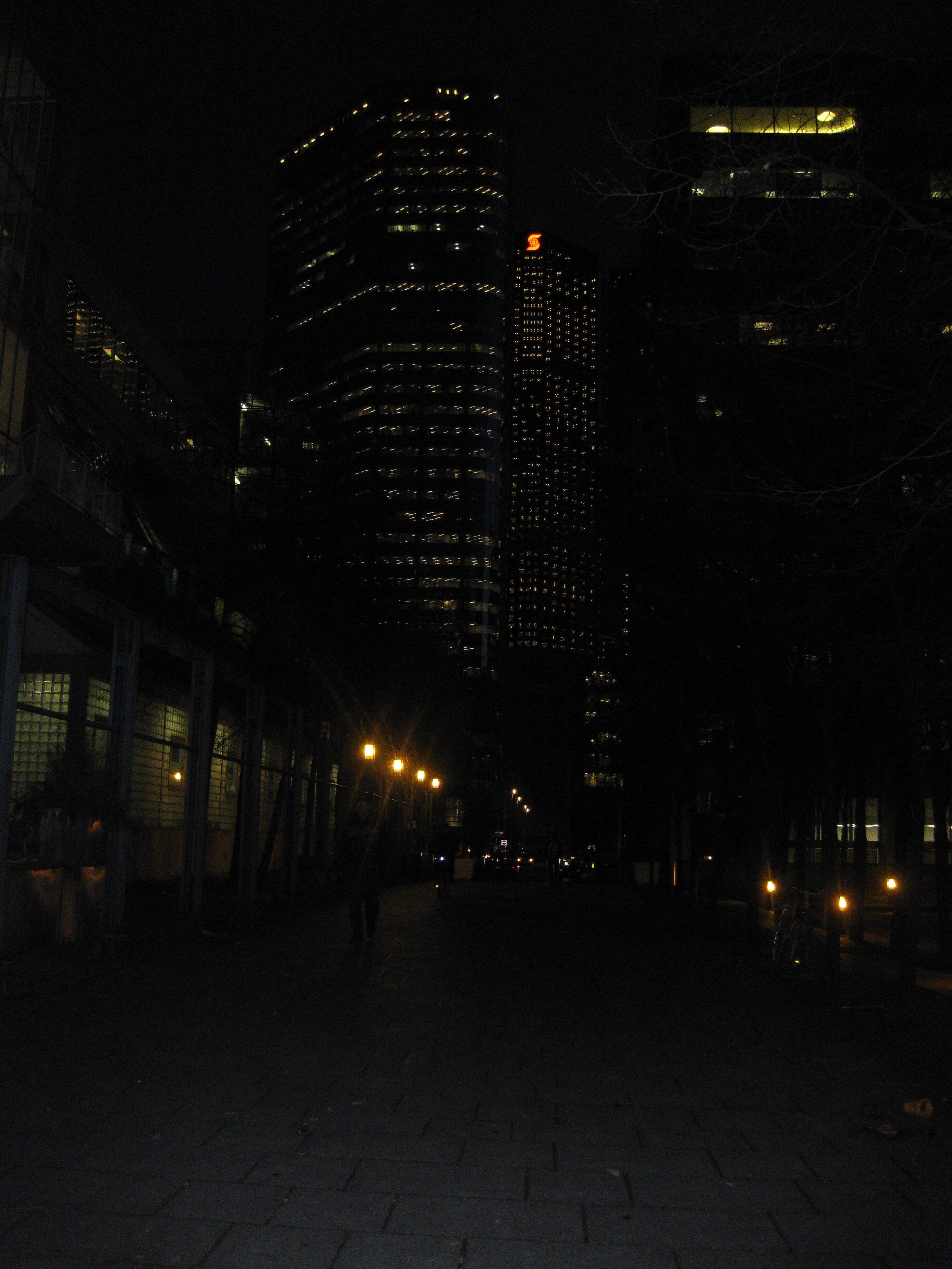 arrivée - photo de nuit pas tres explicite -